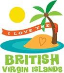 I Love The British Virgin Islands T-shirts