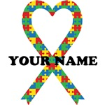 Personalized Autism Heart Ribbon