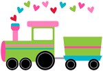 Personalized Valentine Train