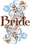 Bride Wedding Swirl T-shirts and Gifts