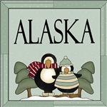 WINTER PENGUIN ALASKA T-SHIRTS AND GIFTS
