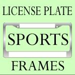 FUNNY SPORTS LICENSE PLATE FRAMES