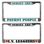 License Plate Frames For Nurses