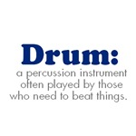 Funny Drum Design T-shirts