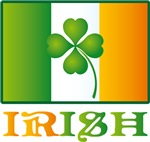 Lucky Irish Shamrock Flag T-shirts and Gifts