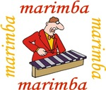 Funny Marimba Cartoon T-shirts