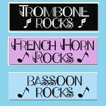 Music Instrument Rocks Stickers