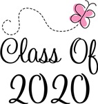 Butterfly Class Of 2020 T-shirts