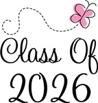 Butterfly Class Of 2026 T-shirts