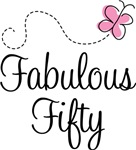 Fabulous Fifty Birthday Butterfly T-shirts