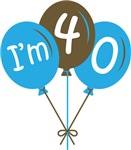 40th Birthday Balloon T-shirts and Gifts