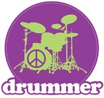 Retro Drummer Tee Shirt Apparel