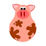 Cute Cartoon Pig T-shirts for Kids
