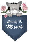 March Baby Announcement Kitty Cat