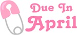 Pink Diaper Pin April Maternity