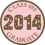 Pink Stars Class Of 2014 T-shirt Gifts