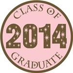 Pink Stars Class Of 2014 T-shirt Gifts
