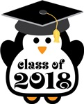 Penguin Class Of 2018 T-shirts and Graduation Gift