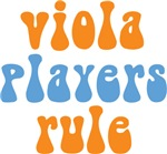Funny Viola Players Rule T-shirts and Gif