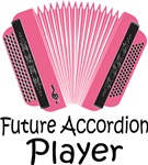 Future Accordion Player Kids T-shirts