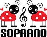 Soprano Music Gift Ladybug T-shirts