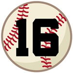 BASEBALL CUSTOM NUMBER TEAM PLAYER T-SHIRTS GIFTS