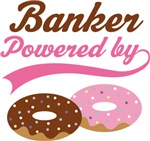Banker Powered By Doughnuts Gift T-shirts