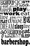 BARBERSHOP Eat Sleep Work Play Music T-shirts