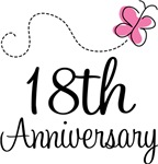 18th Anniversary Pink Butterfly Keepsake Gifts