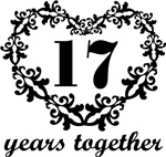 17th Anniversary Heart Gifts Together