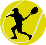 Cool Tennis Ball Silhouette T-shirts and Gifts