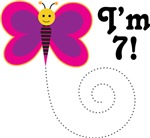 7th Birthday Girls Butterfly T-shirts