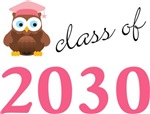 Class Of 2030 Owl Kids T shirts