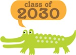 Class Of 2030 Alligator Graduation Apparel