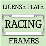 RACING LICENSE PLATE FRAMES AND VANITY PLATES