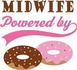 Midwife Powered By Doughnuts Gift T-shirts