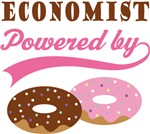 Economist Powered By Doughnuts Gift T-shirts