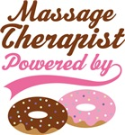 Massage Therapist Powered By Doughnuts T-shirts