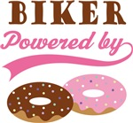 Biker Powered By Doughnuts Gift T-shirts