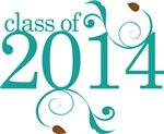 Teal Color Class Of 2014  Graduate Gifts