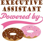 Executive Assistant Powered By Donuts Gift T-shirt