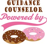 Guidance Counselor Powered By Donuts Gift T-shirts