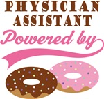 Physician Assistant Powered By Donuts Gift T-shirt