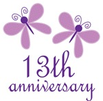 13th Anniversary Gift Purple Butterfly