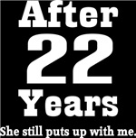 Funny 22nd Anniversary Quote T-shirts and Gifts