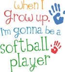 Future Softball Player Kids T-shirts