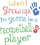 Future Racquetball Player Kids T-shirts