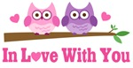 Cute Owl Gifts In Love With You.