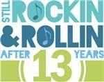 13th Anniversary Rock N Roll Tshirts