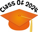 2024 School Class Graduation (Orange)